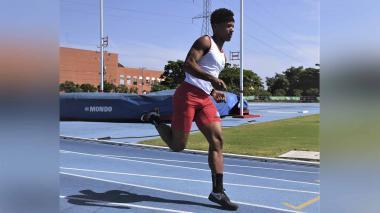 El atleta venezolano Neiker Abello en un entreno.