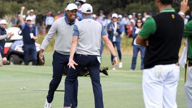 Tiger Woods permite a Estados Unidos seguir vivo en la Presidents Cup