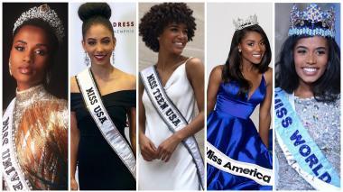 Cinco mujeres afro tienen los títulos de belleza más importantes del mundo