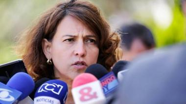 La ministra del Interior, Nancy Patricia Gutiérrez.