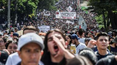 Una de las imágenes que deja las marchas desarrolladas en territorio nacional desde el 21 de noviembre
