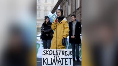 La joven activista Greta Thunberg.