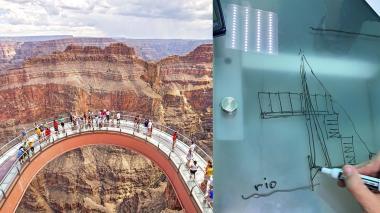 El proyecto toma inspiración de lugares como la pasarela de cristal del Gran Cañón.