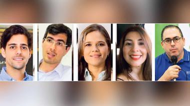Ricardo Vives, Juan Alvarado, María Teresa Fernández, Lizzete Bermejo, Santiago Vásquez.