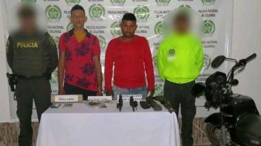 Caen dos presuntos miembros del 'Clan del Golfo' que andaban con un fusil en Córdoba