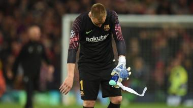 Ter Stergen, arquero del Barcelona.