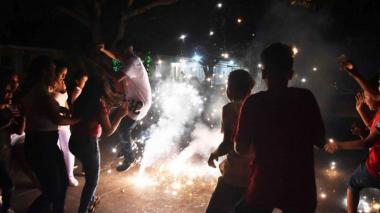 En diciembre, 509 personas quemadas con pólvora en el país