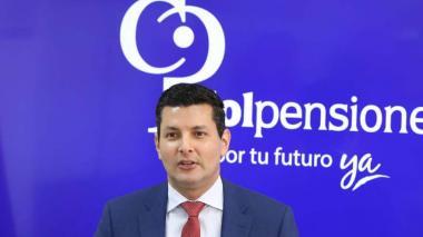 El presidente de Colpensiones, Juan Miguel Villa.