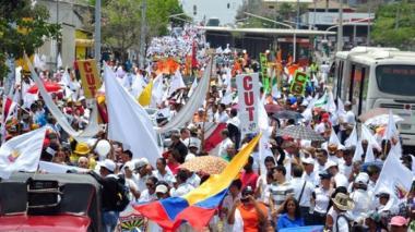 Marchas en la ciudad de Barranquilla.