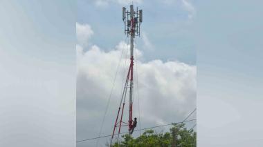 Antena de telefonía móvil en Barranquilla.