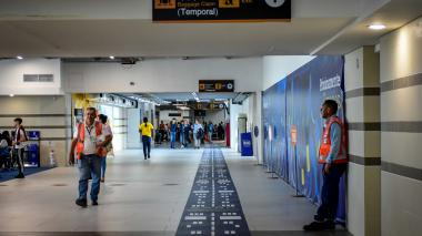 Instalaciones del aeropuerto Ernesto Cortissoz.