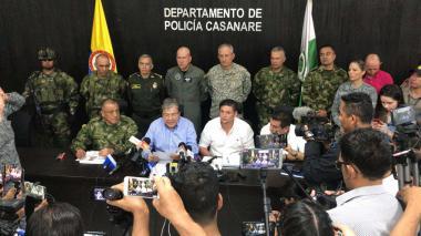 El ministro de Defensa, Carlos Holmes Trujillo, se pronunció desde Casanare.