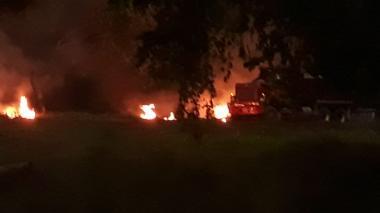 En video   Fuerza Aérea condena atentado de volqueta con explosivos a sede en Yopal