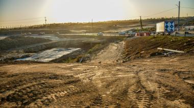 Así se observa la construcción del intercambiador vial de La Virgencita en el municipio de Soledad.
