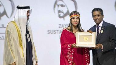 Estudiante de La Guajira ganadora del premio.