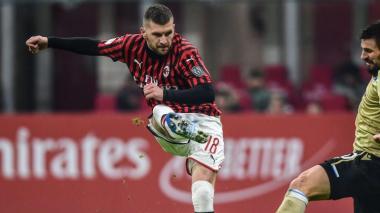 Rebic firma un doblete para la remontada del Milan ante el Udinese