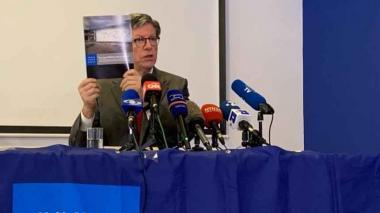 José Miguel Vivanco, director de Human Rights Watch para las Américas , presentó el informe en Bogotá.
