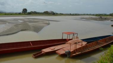 Sucre reporta dramático descenso del río Cauca.