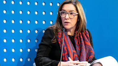 La ministra de Minas y Energía, María F. Suárez.