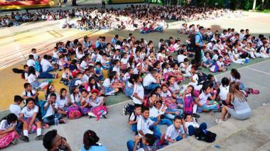 Estudiantes de un colegio en el Atlántico. Imagen de referencia.