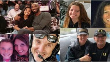 Estos son los fallecidos en el accidente del helicóptero de Kobe Bryant