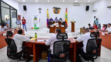 Aspecto de la sesión ordinaria del Concejo de Barranquilla.