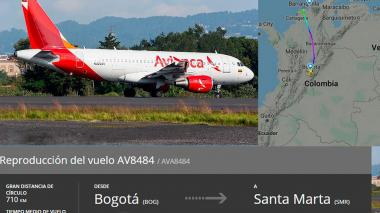 Aerocivil afirma que avión de Avianca que aterrizó en Barranquilla sufrió fallas en una turbina