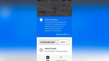 """""""Adiós, Colombia"""": así se despidió Uber del país"""