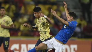 Jorge Carrascal en el encuentro ante Brasil.