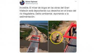 Argos responde a denuncia sobre supuesto vertimiento de concreto en el río Magdalena