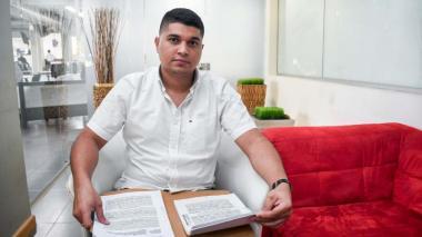 Jesús Montero Fontalvo, aspirante al cargo de Personero de Candelaria, Atlántico.