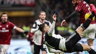 Juventus logra valioso empate 1-1 ante Milan en semifinal de la Copa de Italia