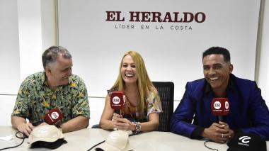 Los jurados de la 'Fórmula del humor' en su visita a las instalaciones de EL HERALDO.