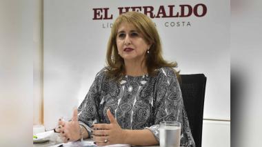 La agente especial de Electricaribe, Ángela Rojas, en EL HERALDO.