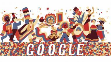 Google se viste de Carnaval con un 'doodle' inspirado en la Batalla de Flores