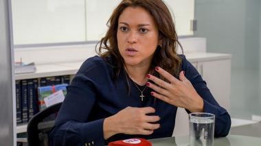 La superintendente de Servicios Públicos, Natasha Avedaño.