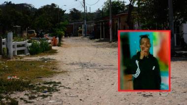 Sitio donde fue baleado Joiber Pico Escobar (en el recuadro).