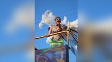 Reina internacional de la Cumbia de USA se tomó el cumbiódromo de la vía 40