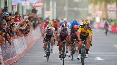 Fernando Gaviria, segundo en cuarta etapa de Vuelta a Emiratos