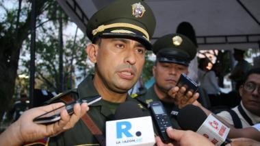 Coronel wilson Armel Montenegro, comandante de la Policía Metropolitana de Montería
