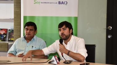 Rafael Lafont y el alcalde Jaime Pumarejo.