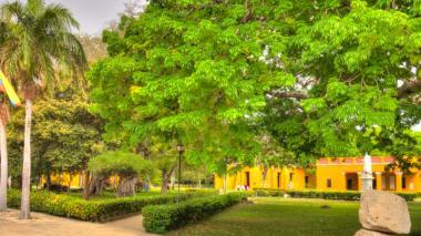 Aspecto de la Quinta de San Pedro Alejandrino donde se instalará el encuentro de mandatarios.