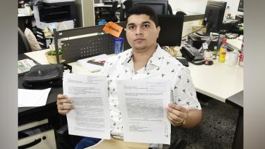 Jesús Montero Fontalvo, aspirante al cargo de Personero Municipal de Candelaria.