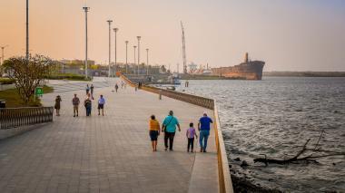 El Gran Malecón del Río enmarca los escenarios donde se llevará a cabo la 61ª Asamblea del Banco Interamericano de Desarrollo.