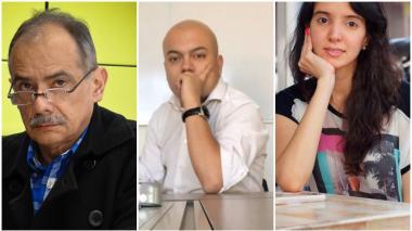 Los periodistas Gonzalo Guillén, Julián Martínez y Diana Zuleta.