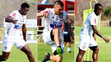 Dany Rosero, Leonardo Pico y Carmelo Valencia.