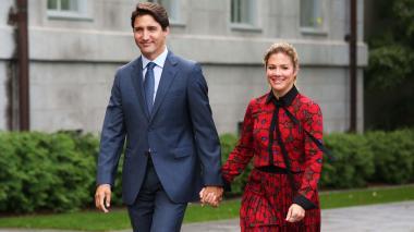 Justin Trudeau y su esposa Sophie.