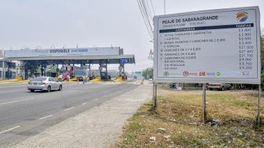 El dinero recaudado en el peaje de Sabanagrande sería invertido en la Calle 30, según la propuesta.