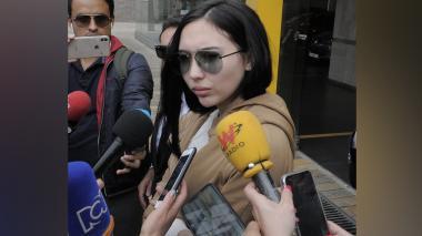 Aida Victoria Merlano habló con los medios a su llegada a la Corte Suprema de Justicia.