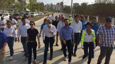 Entregan 2,4 km de vía en el norte de Barranquilla